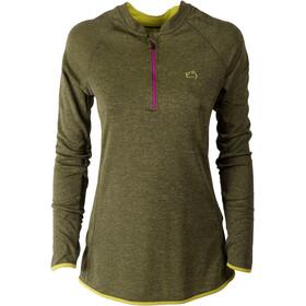 E9 Flip - T-shirt manches longues Femme - jaune/gris